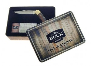 Buck Folding Hunter limited tin gift box